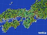 2016年01月19日の近畿地方のアメダス(日照時間)
