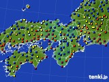 2016年01月20日の近畿地方のアメダス(日照時間)