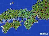 2016年01月22日の近畿地方のアメダス(日照時間)
