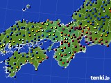 2016年01月24日の近畿地方のアメダス(日照時間)