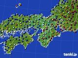 2016年01月27日の近畿地方のアメダス(日照時間)