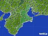 2016年01月29日の三重県のアメダス(降水量)