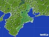 2016年01月30日の三重県のアメダス(風向・風速)