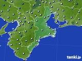 2016年02月03日の三重県のアメダス(気温)