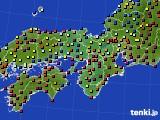 2016年02月04日の近畿地方のアメダス(日照時間)