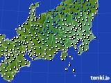 関東・甲信地方のアメダス実況(気温)(2016年02月05日)