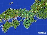 2016年02月06日の近畿地方のアメダス(日照時間)