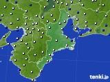 2016年02月06日の三重県のアメダス(風向・風速)