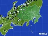 2016年02月09日の関東・甲信地方のアメダス(降水量)