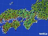 2016年02月09日の近畿地方のアメダス(日照時間)