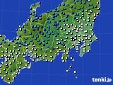 関東・甲信地方のアメダス実況(気温)(2016年02月09日)