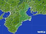 2016年02月09日の三重県のアメダス(気温)