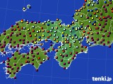 2016年02月10日の近畿地方のアメダス(日照時間)