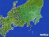 2016年02月13日の関東・甲信地方のアメダス(降水量)