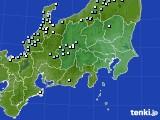 2016年02月14日の関東・甲信地方のアメダス(降水量)