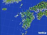 2016年02月15日の九州地方のアメダス(気温)