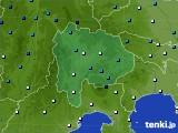 2016年02月15日の山梨県のアメダス(気温)