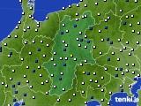 2016年02月15日の長野県のアメダス(風向・風速)
