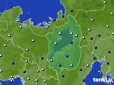 2016年02月15日の滋賀県のアメダス(風向・風速)