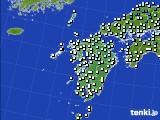 2016年02月20日の九州地方のアメダス(気温)