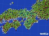 2016年02月21日の近畿地方のアメダス(日照時間)