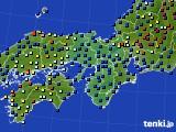 2016年02月22日の近畿地方のアメダス(日照時間)