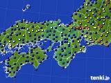 2016年02月23日の近畿地方のアメダス(日照時間)