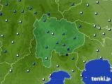 2016年02月24日の山梨県のアメダス(気温)