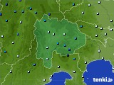 2016年02月25日の山梨県のアメダス(気温)