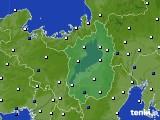 2016年02月25日の滋賀県のアメダス(風向・風速)