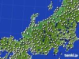 2016年02月28日の北陸地方のアメダス(風向・風速)