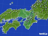 近畿地方のアメダス実況(降水量)(2016年02月29日)