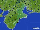 2016年02月29日の三重県のアメダス(日照時間)