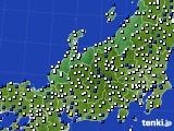 2016年02月29日の北陸地方のアメダス(風向・風速)