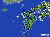 九州地方のアメダス実況(風向・風速)(2016年02月29日)