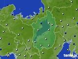 2016年02月29日の滋賀県のアメダス(風向・風速)