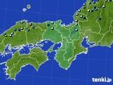近畿地方のアメダス実況(積雪深)(2016年03月01日)