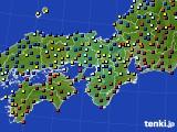 近畿地方のアメダス実況(日照時間)(2016年03月01日)