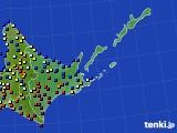 道東のアメダス実況(日照時間)(2016年03月01日)