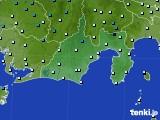 静岡県のアメダス実況(気温)(2016年03月01日)