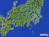 関東・甲信地方のアメダス実況(風向・風速)(2016年03月01日)