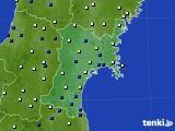 2016年03月01日の宮城県のアメダス(風向・風速)
