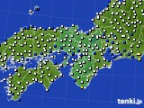 近畿地方のアメダス実況(風向・風速)(2016年03月02日)