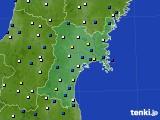 2016年03月03日の宮城県のアメダス(風向・風速)