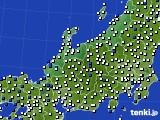 2016年03月05日の北陸地方のアメダス(風向・風速)