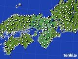 2016年03月06日の近畿地方のアメダス(風向・風速)