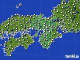 2016年03月08日の近畿地方のアメダス(風向・風速)
