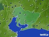 2016年03月08日の愛知県のアメダス(風向・風速)