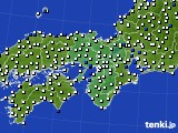 2016年03月10日の近畿地方のアメダス(風向・風速)