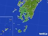 2016年03月11日の鹿児島県のアメダス(風向・風速)
